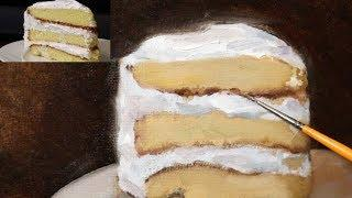 Oil Painting Tutorial | Slice of Cake - REAL TIME