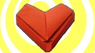 Simple Paper Origami Heart Tutorial