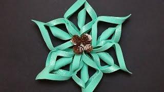 Stella di Natale  feltro,pannolenci,gomma crepla senza cucire ,Tutorial Make a Snowflake