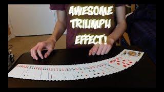 SUPER Dope Triumph Card Trick! Performance And Tutorial!