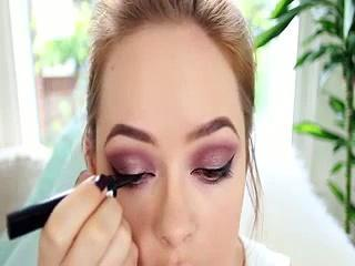 Smoky Purple Arab Inspired Makeup Tutorial Tanya Burr 2015