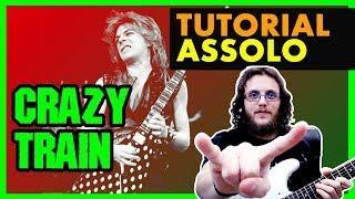 ASSOLO di CRAZY TRAIN di Randy Rhoads - Tutorial Lezione di Chitarra Metal