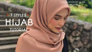7 STYLES|| MOST SIMPLE & ADORABLE ||HIJAB SQUARE TUTORIAL||