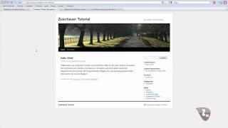 Homepage Tutorial Wordpress Teil 2 - Installieren , Themes Und Widgets [German/Deutsch]