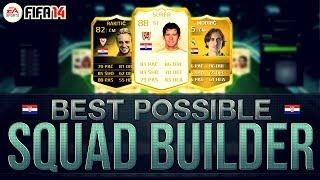 BEST POSSIBLE CROATIA TEAM! W/LEGEND CARD | FIFA 14 Ultimate Team Squad Builder