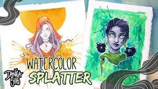 Splatter Watercolor Texture Tutorial ♦ Watercolor Speedpaint ♦ Harvest and Green Eyes