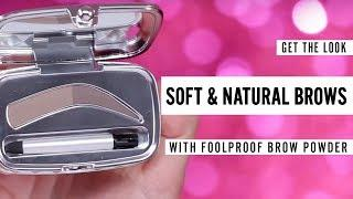 HOW TO GET NATURAL BROWS INSTANTLY   foolproof brow powder tutorial
