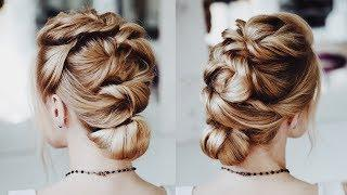 Easy plaited hair do tutorial step by step | Beautiful and easy prom hairstyle