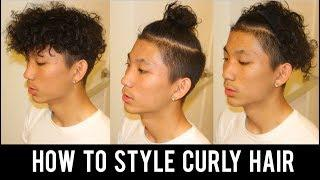 7 HAIRSTYLES FOR MEN'S CURLY HAIR!! (How to Style Curly Hair Tutorial)