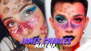 Sigo un tutorial de maquillaje de JAMES CHARLES
