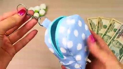 DIY MONEY POUCH BAG TUTORIAL | Keychain Idea 2018 Mini Bag Fast Making