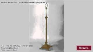 English Antique Floor Lamp/torchère Georgian Lighting For