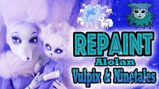 Tutorial: Repaint Alolan Vulpix and Ninetales Pokemon Video game Collab Obitsu Monster High cleolei