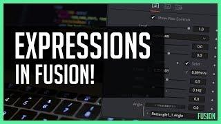 Expressions In Fusion Tab!  - DaVinci Resolve 15 Tutorial