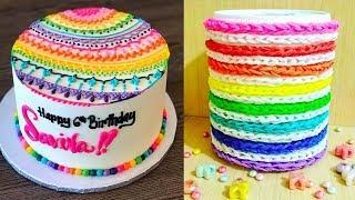 10 Amazing Rainbow Cake Decorating Ideas | Easy Cake Decorating Tutorial Compilation | CAKE STYLE