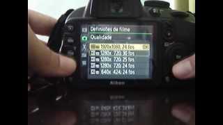 Nikon D3100 Português Tutorial Primeiros Passos,menus E Outros Parte 2