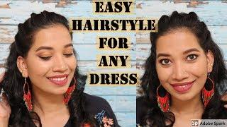 Easy Hairstyle for any Dress I Easy Hairstyle Tutorial I Malayali Youtuber