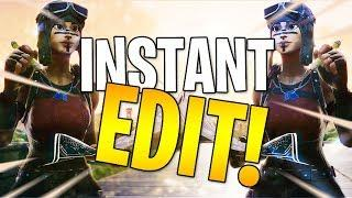 HOW TO INSTANT Edit Tutorial! : Fortnite Pro Tips and Tricks