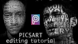 Picsart editing tutorial | Face Typography (Face text)