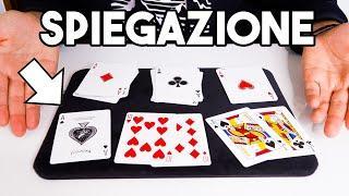 IL MAGO E IL BARO / Spiegazione gioco di magia con le carte / tutorial