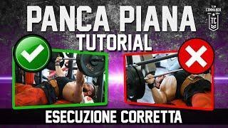 Come fare PANCA PIANA Tutorial - Esecuzione e tecnica CORRETTA ▪ Bench Press