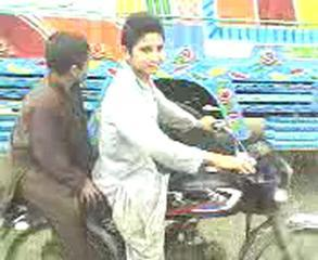 Funny Clip Pathan On Bike One Wheel