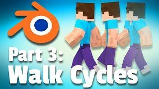 Making a Minecraft Animation | Part 3: Walk Cycles (Tutorial)