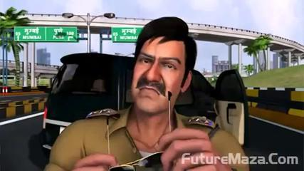 Singham Returns 2 Cartoons With Road Official Funny Video HD(www.aftabakmal.blogspot.com
