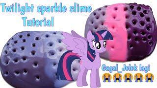Cara membuat Twilight sparkle slime tutorial