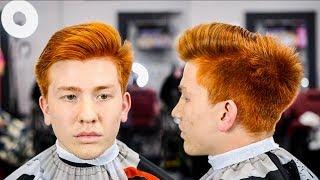 HAIRCUT TUTORIAL: RED HAIR COMBOVER | BALD FADE | NO HARD PART