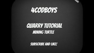 Quarry And Mining Turtle Tutorial Dansk