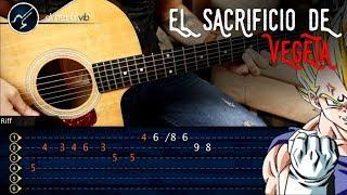El Sacrificio de Vegeta DRAGON BALL Z Guitarra Tutorial | Punteo Christianvib