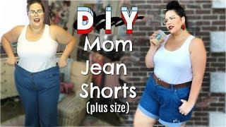 HOW TO: PLUS SIZE MOM JEAN SHORTS + HAUL.... (easy tutorial and super cheap!!)