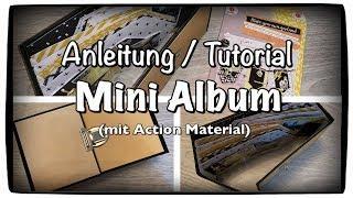 Tutorial / Anleitung Scrapbook Mini Album aus einem Action DIY Set, basteln mit Papier, DIY