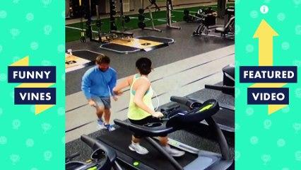 TRY NOT TO LAUGH - TREADMILL FAILS   Funny Videos February 2019