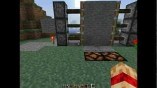 Minecraft Simple Piston 3x2 Tutorial Hebrew