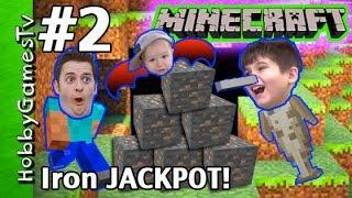 Iron JACKPOT Minecraft Survival Mode Tutorial HobbyGuy #2 HobbyGamesTV