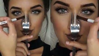 INCREIBLES TUTORIALES DE MAQUILLAJE GLAM 2017 - The Best Glam Make Up Tutorial 2017