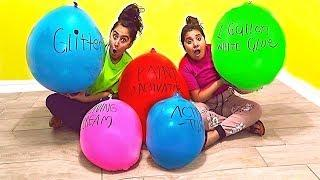 Making Slime With EXTREMELY GIANT Balloons! Giant Slime Balloon Tutorial