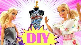 DIY Barbie Doll dress tutorial. Funny hacks.