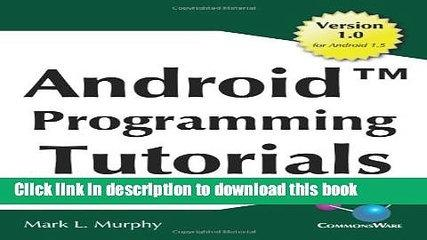 Books Android Programming Tutorials Free Online