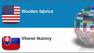 Learn Slovak = Topic = Textile Fabrics And Related Items