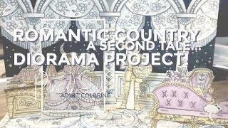 Romantic Country Second Tale Diorama! -- Adult Coloring - A PencilStash Tutorial
