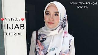 5 STYLES|| DAILY WEAR|| HIJAB SQUARE TUTORIAL|| WORK || HANGOUT||