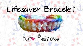 NEW Lifesaver Rainbow Loom Bracelet Tutorial