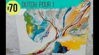 """#70 TUTORIAL ACRILICOS FLUIDOS - """"Dutch Pour 1° Intento""""-En Español (Acrylic Pouring)"""