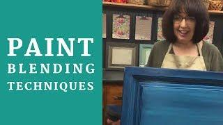 DIY Paint Blending Techniques | Ombre Blending Tutorial | Country Chic Paint