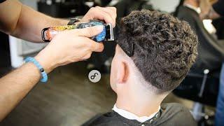 How to fade CURLY Hair | BARBER TUTORIAL