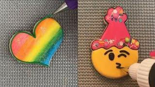How To Make Cookies HEART Art DECORATING - Amazing Cakes Tutorial Ideas - Awesome Cookies
