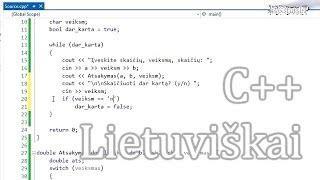 C++ Pamoka 11 - Dar Vienas Skaičiuotuvas, šįkart Su Begaliniu Ciklu